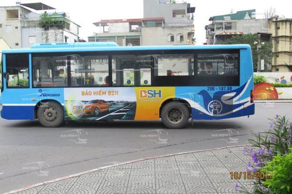 Bảo hiểm BSH quảng cáo trên xe buýt Hà Nội