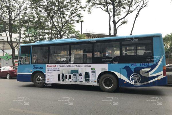 Điều hòa Honeywell quảng cáo trên xe buýt tại Hà Nội