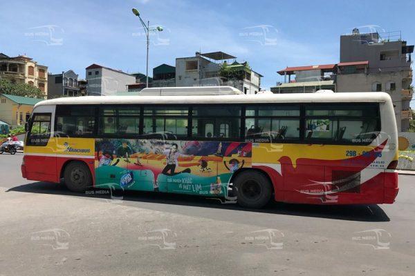 Pushmax quảng cáo trên xe buýt