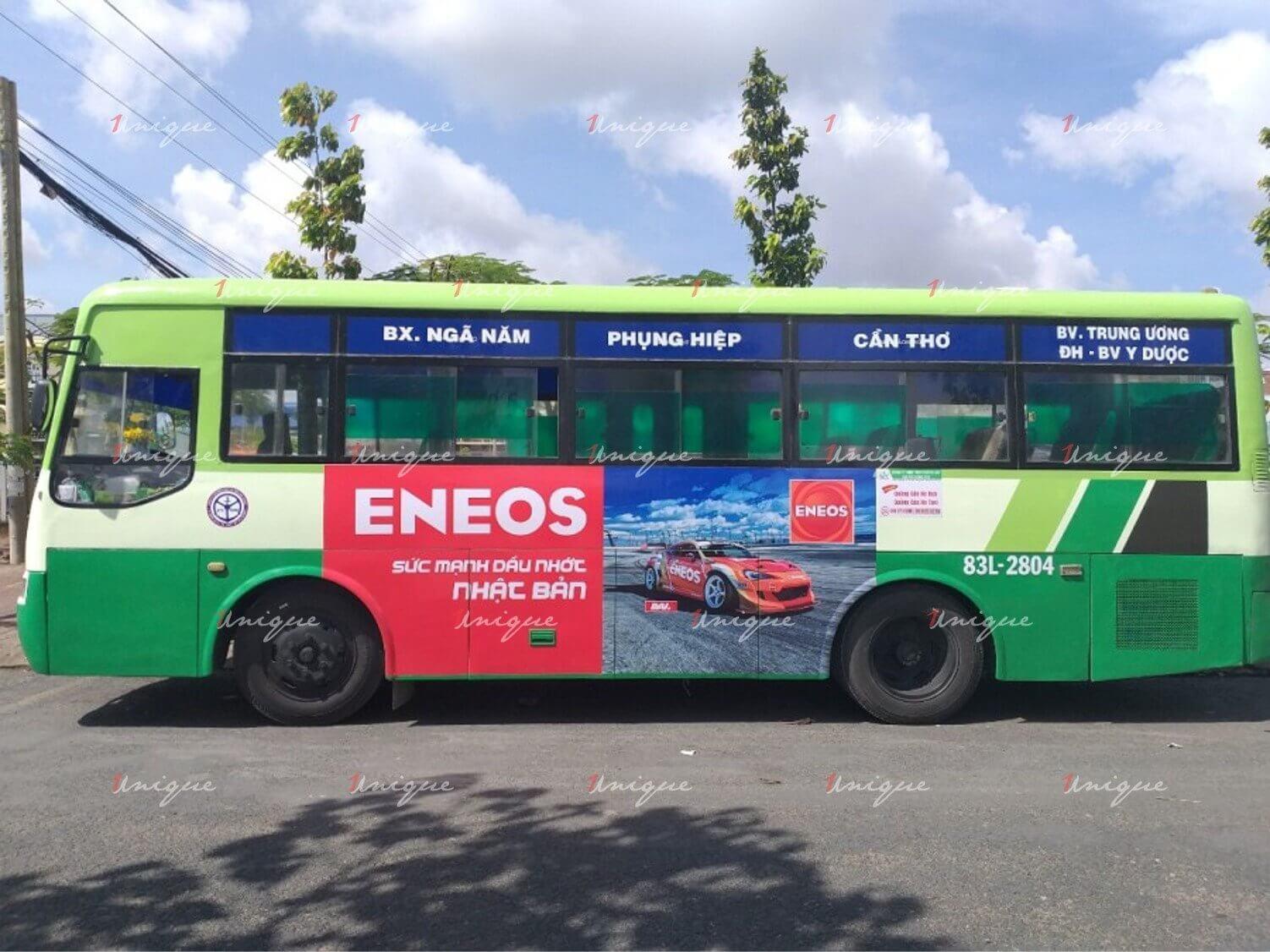 quảng cáo trên xe buýt tại Cần Thơ