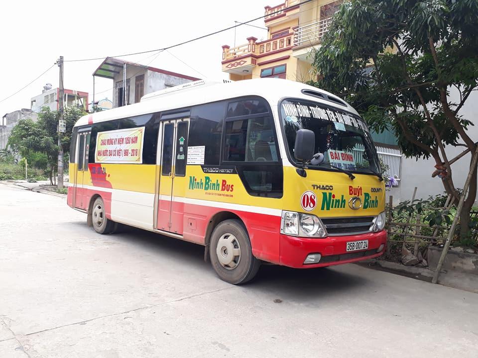 quảng cáo xe buýt ở ninh bình