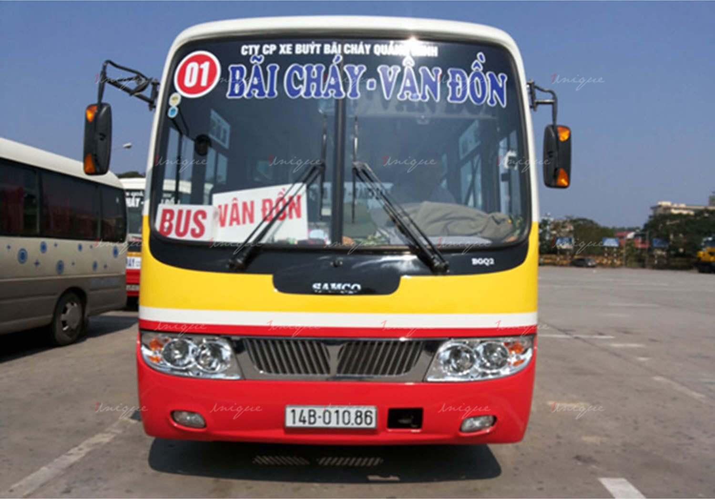 quảng cáo trên xe buýt tại Quảng Ninh