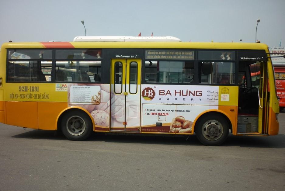 quảng cáo trên xe buýt tại quảng nam