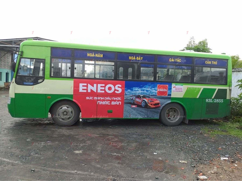 Quảng cáo trên xe buýt tại Sóc Trăng