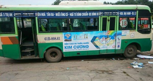 quảng cáo xe buýt tại bình dương