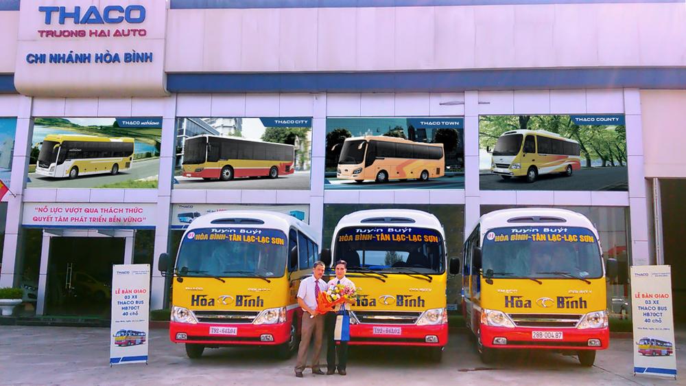 quảng cáo xe buýt tại hòa bình