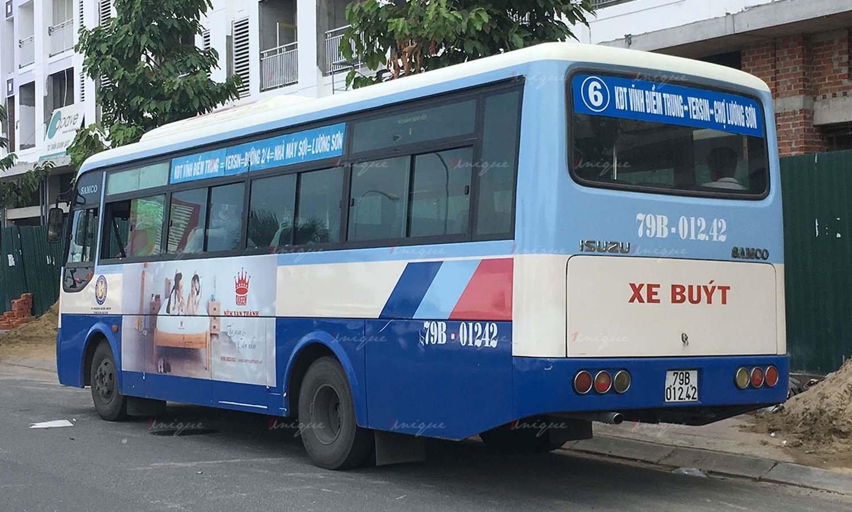Quảng cáo trên xe buýt tại Nha Trang