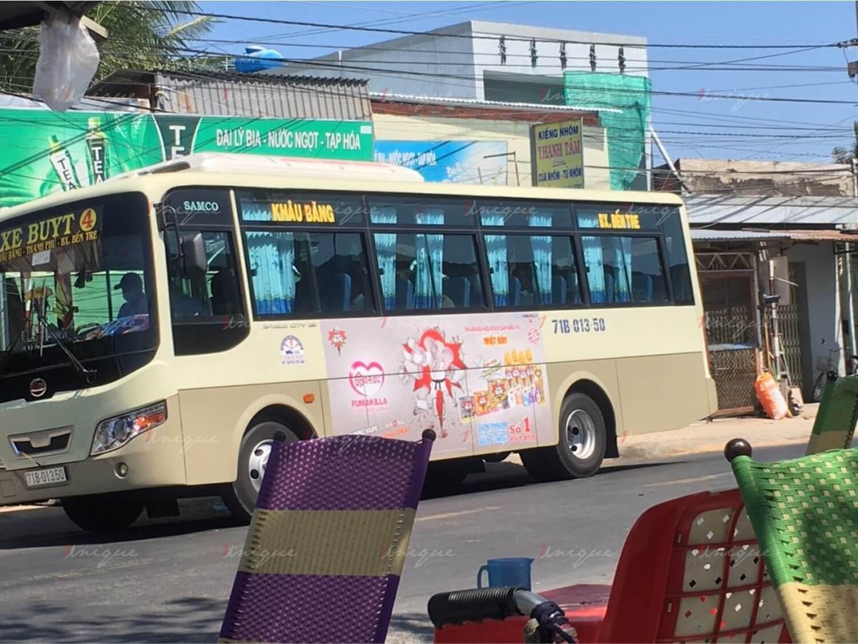 quảng cáo xe buýt tại bến tre