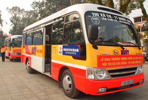 quảng cáo xe buýt tại cao bằng