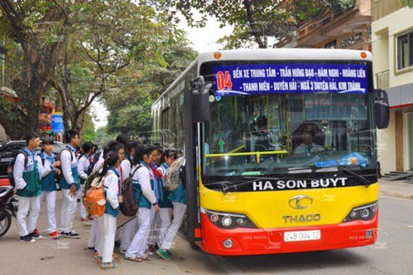 quảng cáo xe buýt tại lào cai