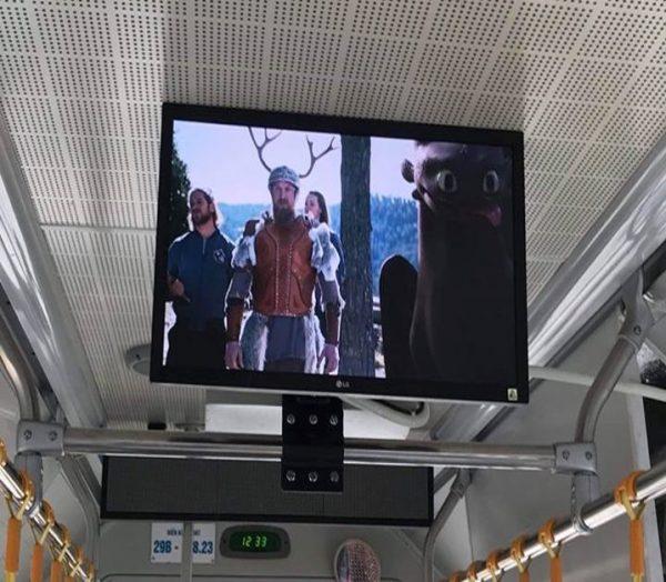 quảng cáo màn hình Lcd trên xe buýt BRT