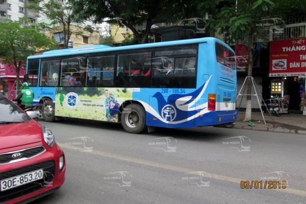 quảng cáo xe buýt cho biotrade
