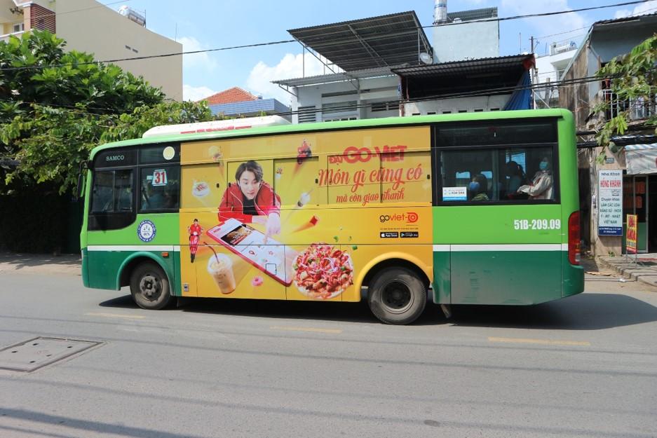 quảng cáo xe buýt cho goviet