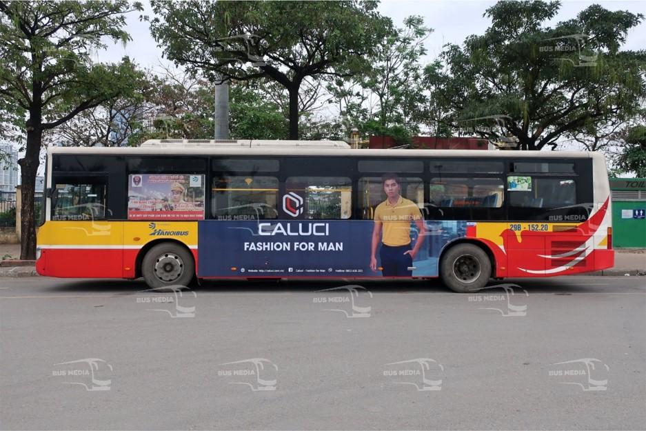 quảng cáo xe buýt cho Caluci
