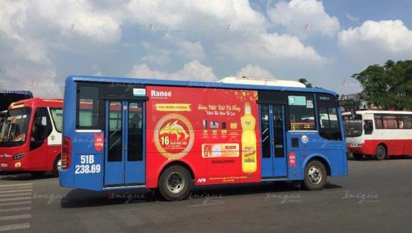 quảng cáo xe buýt cho dầu cá ranee