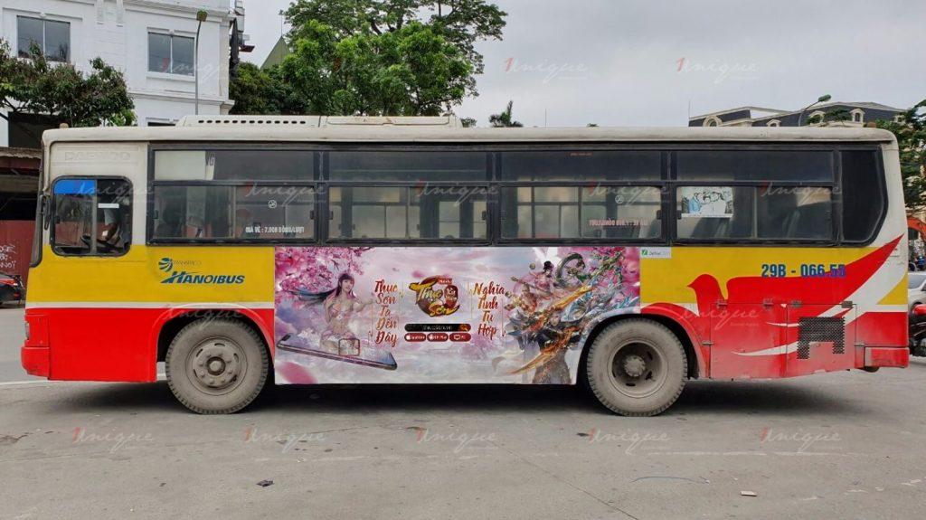 quảng cáo trên xe buýt cho soha game