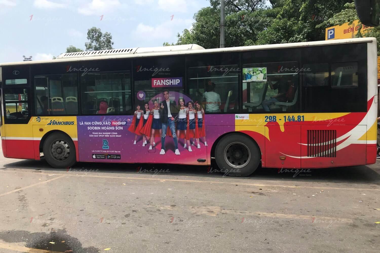 naver quảng cáo trên xe buýt