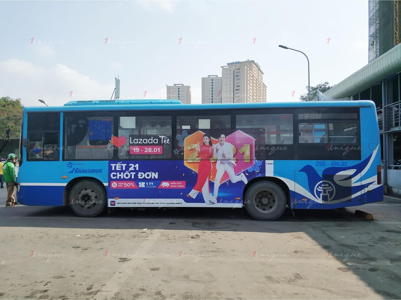 lưu ý khi quảng cáo xe buýt