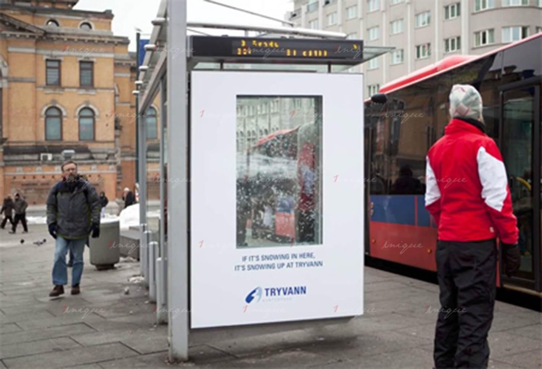 Chiến dịch quảng cáo nhà chờ xe buýt của Tryvann