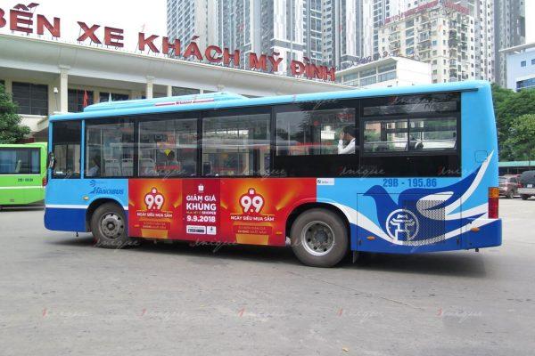 thiết kế maquette quảng cáo xe buýt