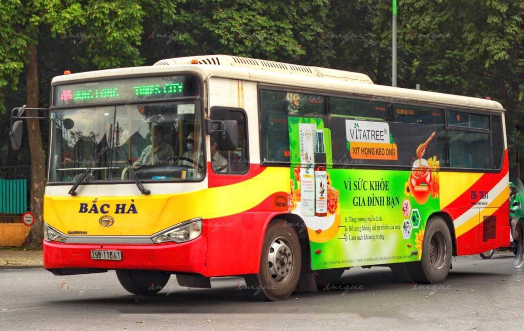 quảng cáo trên xe buýt hậu dịch Covid-19