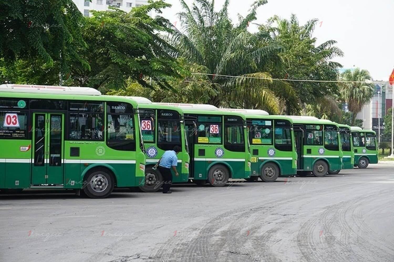xe buýt hoạt động trở lại