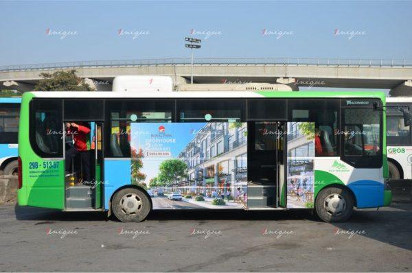 Chiến dịch quảng cáo trên xe bus của Hinode Royal Park