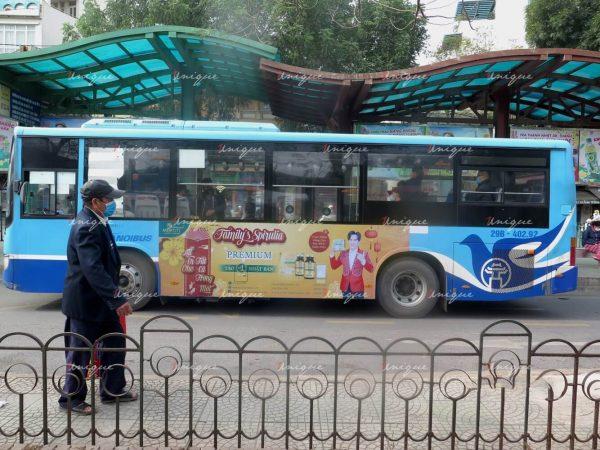 Chiến dịch quảng cáo trên xe buýt của Tảo Nhật Motiti Store