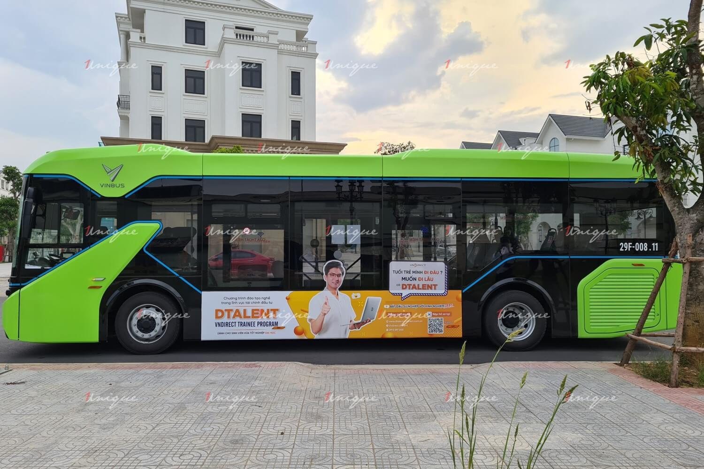 VNDIRECT quảng cáo trên xe buýt điện Vinbus