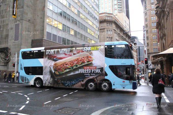 quảng cáo trên xe buýt hai tầng