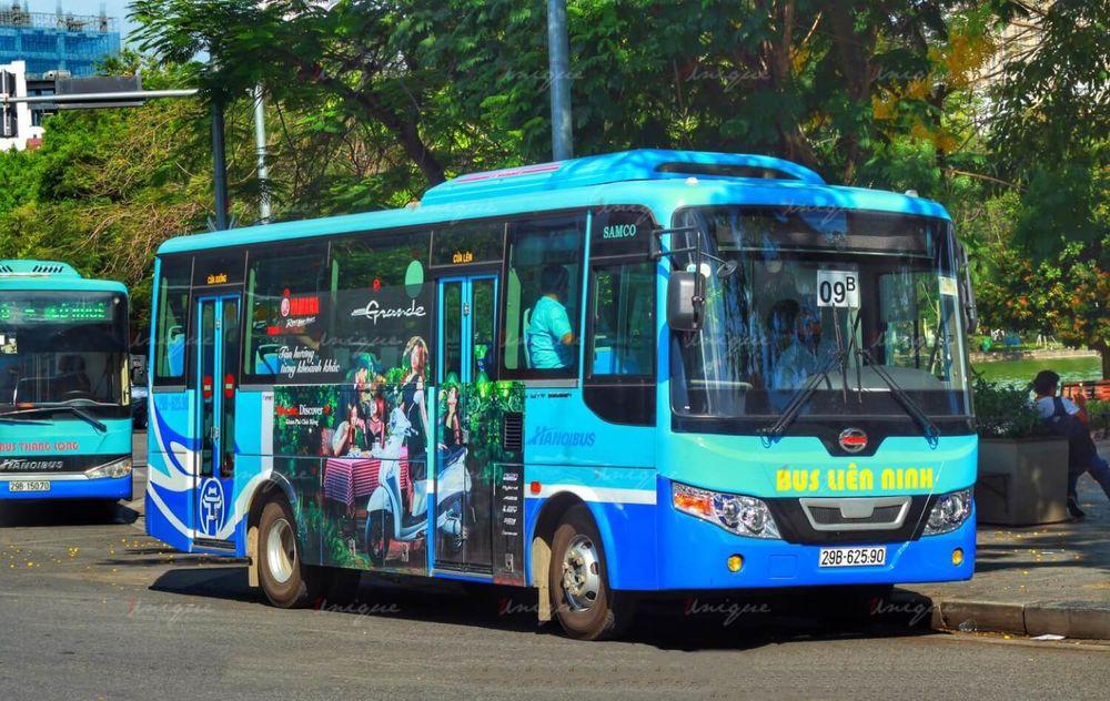 thi công quảng cáo trên xe buýt